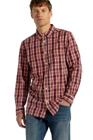 Wrangler ανδρικό πουκάμισο Long Sleeve One Pocket Scarlet Red - W57604MUU - Κόκκινο