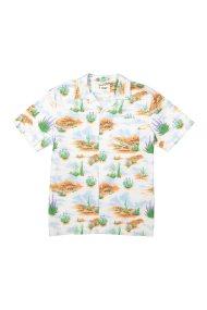 Wrangler ανδρικό κοντομάνικο πουκάμισο Resort Shirt - W59076H48 - Εκρού