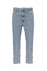 Wrangler γυναικείο τζην παντελόνι Retro Straight Crop Sunset Blue - W27YGF26R - Μπλε Ανοιχτό