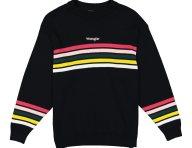 Wrangler γυναικεία πλεκτή μπλούζα με ριγέ retro σχέδιο - W8N4P4100 - Μαύρο