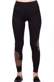 Γυναικείο παντελόνι Desigual - 17WWKK14 - Μαύρο