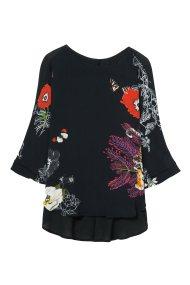 Desigual γυναικεία μπλούζα Κarenina - 18WWBW72 - Μαύρο