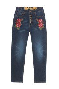 Desigual γυναικείο τζην παντελόνι Greta - 18WWDD47 - Μπλε