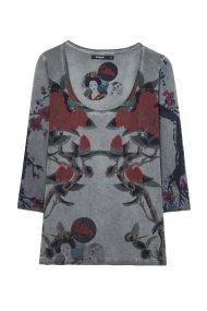 Desigual γυναικεία μπλούζα Κrammer - 18WWTKBM - Γκρι