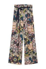 Desigual γυναικεία παντελόνα με ζωνάκι Debora - 19SWPW11 - Μπλε