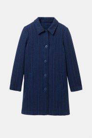 Desigual γυναικείο μάλλινο παλτό με συνδιασμό χρωμάτων - 19WWEWCK - Μπλε Σκούρο
