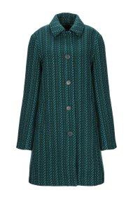 Desigual γυναικείο μάλλινο παλτό με συνδιασμό χρωμάτων - 19WWEWCK - Πράσινο