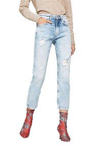 Pepe Jeans γυναικείο τζην cropped με σκισίματα - PL203057RE18 - Μπλε Ανοιχτό