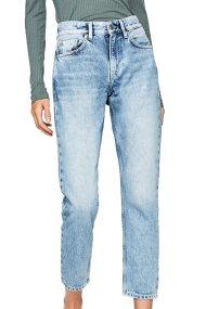 Pepe Jeans γυναικείο τζην παντελόνι ξεββαμένο cropped - PL203156MD00 - Μπλε Ανοιχτό