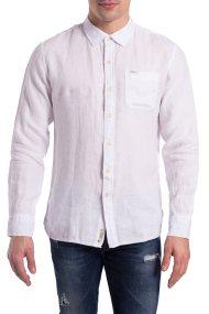 Ανδρικό λινό πουκάμισο Presti Pepe Jeans - PM303156 - Λευκό