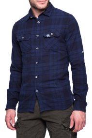 Ανδρικό πουκάμισο Superdry - M40006EP - Μπλε Σκούρο
