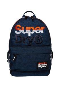 Superdry ανδρικό denim backpack Jackel Montana - M91016MT - Μπλε Σκούρο
