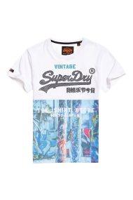 Superdry ανδρικό T-shirt Shirt Shop - M10110YT - Λευκό