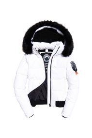 Superdry γυναικείο καπιτονέ μπουφάν Everest Ella Bomber Jacket - G50003ER - Λευκό