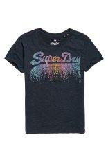 51a18df80179 Superdry γυναικείο Τ-shirt cascade με vintage λογότυπο - G10124ST - Μπλε  Σκούρο