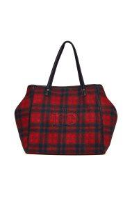 Roccobarocco γυναικεία τσάντα χειρός καρό με αφαιρούμενο τσαντάκι - 01GRBBS2TD01T/L - Κόκκινο