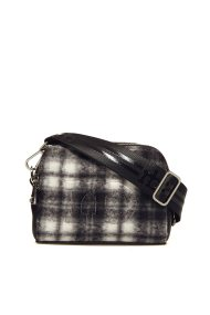 Roccobarocco γυναικεία τσάντα καρό με λουρί ιμάντα - 01GRBBS2TD03T/L - Μαύρο