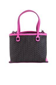 Γυναικεία τσάντα χειρός μονόχρωμη με μικροσχέδιο Gabs - G462T1X0219 - Μαύρο