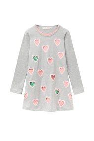 Desigual παιδικό φόρεμα Baton - 18WGVK42 - Γκρι