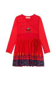 Desigual παιδικό φόρεμα Niamey - 18WGVK28 - Κόκκινο