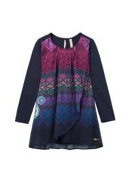 Desigual παιδικό φόρεμα Magrana - 18WGVW40 - Μπλε Σκούρο