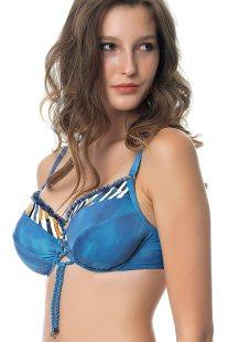Γυναικείο μαγιό μπικίνι top μπλε με print Cup Ε Erka Mare - 78306 - Μπλε a15435d58d3