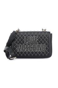 Love Moschino γυναικεία τσάντα ώμου καποτινέ με κεντημένο logo - JC4278PP08KG1 - Μαύρο