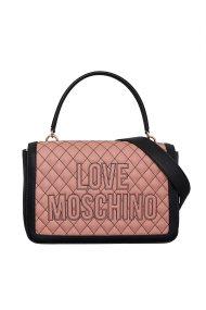 Love Moschino γυναικεία τσάντα ώμου καποτινέ με κεντημένο logo - JC4278PP08KG1 - Ροζ