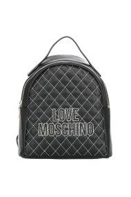 Love Moschino γυναικείo καπιτονέ backpack με κεντημένο logo - JC4279PP08KG1 - Μαύρο