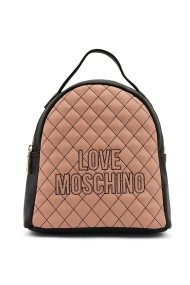 Love Moschino γυναικείo καπιτονέ backpack με κεντημένο logo - JC4279PP08KG1 - Ροζ