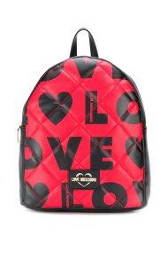 Love Moschino γυναικείo backpack καπιτονέ με logo print - JC4295PP08KJ1 - Κόκκινο
