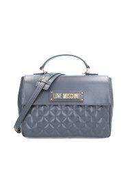 Love Moschino γυναικεία τσάντα χειρός καπιτονέ με flap κλείσιμο - JC4208PP08KA0 - Ανθρακί