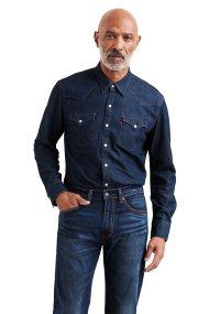 Levi's ανδρικό πουκάμισο Barstow Western - 6581601-15 - Μπλε Σκούρο