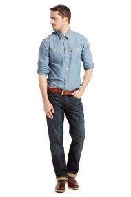 Ανδρικό τζην παντελόνι 514™ Straight Jeans Kale (34L) Levi's - 0051403-08-34 - Μπλε Σκούρο