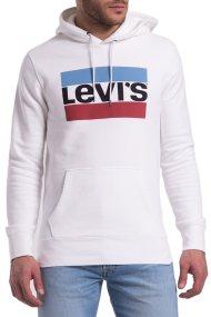 Ανδρικό λευκό φούτερ με κουκούλα Levi's - 1949100-25 - Λευκό