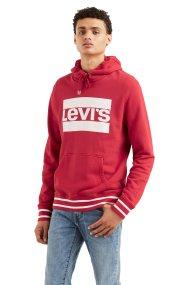 Levi's ανδρικό φούτερ με κουκούλα κόκκινο Graphic - 1949100-35 - Κόκκινο