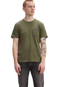 Levi's ανδρικό T-shirt Sunset Pocket - 2981300-68 - Χακί