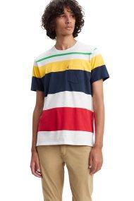 Levi's ανδρικό T-shirt Set-In Sunset Pocket - 2981300-79 - Μπλε
