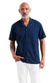 Levi's ανδρικό πουκάμισο με κοντό μανίκι Cubano - 7262500-00 - Μπλε Σκούρο