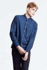 Levi's ανδρικό πουκάμισο καρό Sunset Pocket - 6582404-37 - Μπλε Σκούρο