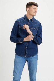 Levi's® ανδρικό denim πουκάμισο Barstow Western Standard - 8574400-09 - Μπλε Σκούρο