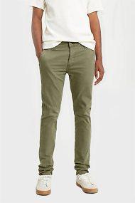 Levi's® ανδρικό παντελόνι XX Chino Slim Taper Fit (32L) - 1719900-01-32 - Λαδί