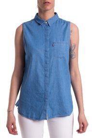 Γυναικείο αμάνικο πουκάμισο Coralie Levi's - 3969500-00 - Μπλε