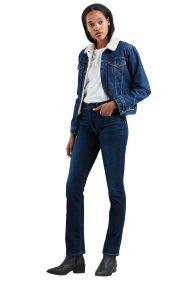 Levi's γυναικείο τζην παντελόνι 724 High Rise Straight Jeans 32L - 1888300-29-32 - Μπλε Σκούρο
