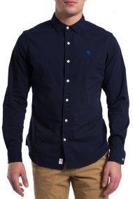 Ανδρικό πουκάμισο μονόχρωμο Timberland - CA1JMJB68 - Μπλε Σκούρο