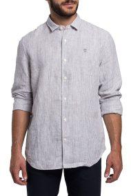 Timberland ανδρικό ριγέ πουκάμισο λινό - CA1KZEI87 - Γκρι