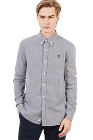 Timberland ανδρικό πουκάμισο καρό Milford Checked Oxford - TB0A1OJVB681 - Γκρι
