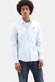 Timberland ανδρικό μοχόχρωμο πουκάμισο Suncook River - TB0A1WKT9401 - Γαλάζιο