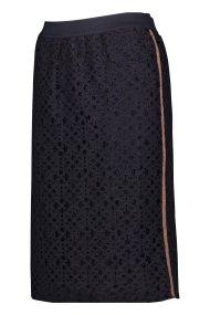 Gerry Weber γυναικεία φούστα δαντέλα μπλε σκούρα pencil - 810003-31331 - Μπλε Σκούρο