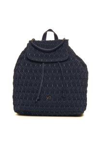 Ynot? γυναικείo backpack καπιτονέ με αλυσίδα - Q06 - Μπλε Σκούρο